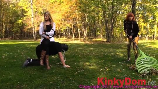 BratPrincess, Clips4sale - Chloe, Lizzy - Pony slave Ridden Around the Grounds while slave girl Does Yard Work [1080p] (Femdom)